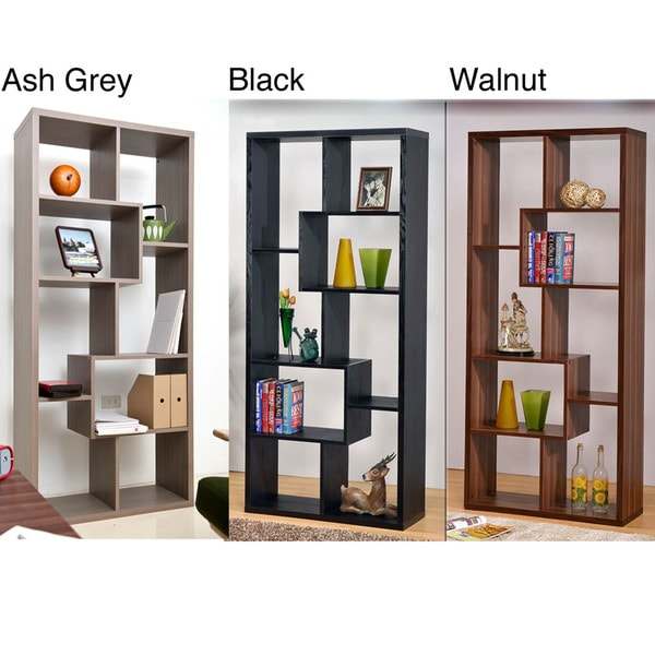 Furniture Of America Wood Bookcase Display Cabinet Free
