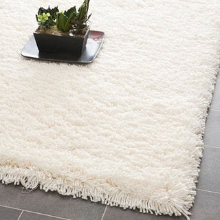 Safavieh Classic Plush Handmade Super Dense Honey White Shag Runner (2'3 x 8')