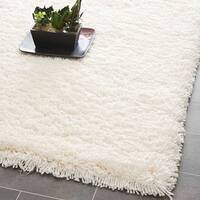Safavieh Classic Plush Handmade Super Dense Honey White Shag Rug - 8' x 8' Square