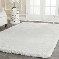 Safavieh Classic Plush Handmade Super Dense Honey White Shag Rug - 6' x 9'