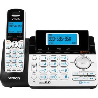 VTech DS6151 DECT 6.0 2-Line Expandable Cordless Phone with Answering