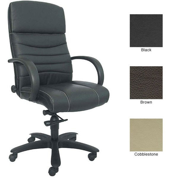 sealy high back adjustable leather office chair - free shipping