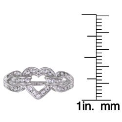 Sterling Essentials Sterling Silver Clear Cubic Zirconia Heart Ring - Thumbnail 2