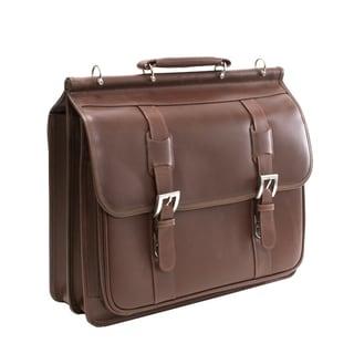 Siamod Signorini Leather Double Compartment Laptop Briefcase Deals