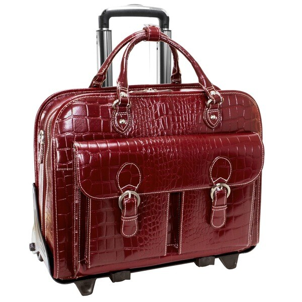 Siamod 'San Martino' Women's Leather Detachable Wheeled Laptop Case
