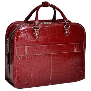 Siamod 'San Martino' Women's Leather Detachable Wheeled Laptop Case