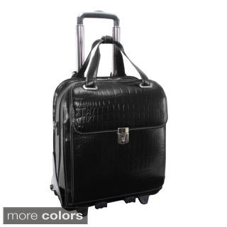 Siamod 'Novembre' Women's Leather Detachable Wheeled Laptop Case