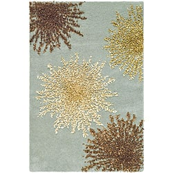 Safavieh Handmade Soho Burst Blue New Zealand Wool Rug (2' x 3)