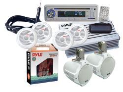 Pyle KTMRA8SP Complete Marine Waterproof 6-speaker Stereo System