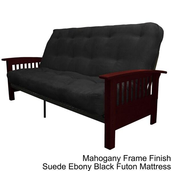 brendan fullsize frame with inner spring futon mattress set sleeper bed free shipping today