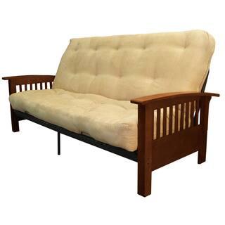 Pine Canopy Uncompahgre Queen Cotton Foam Futon Mattress Set Sleeper Bed