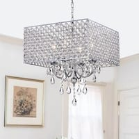 Silver Orchid Taylor Chrome/ Crystal 4-light Square Chandelier