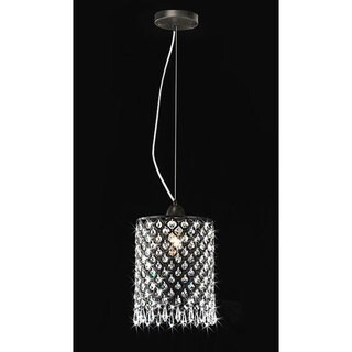 Antique Black Mini-pendant 1-light Round Crystal Chandelier