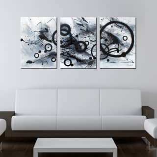 Hand-painted 'Abstract' 3-piece Gallery-wrapped Canvas Art Set|https://ak1.ostkcdn.com/images/products/4738257/P12646167.jpg?impolicy=medium