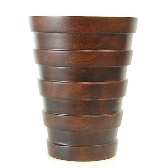 Hand-carved Mango Wood Multi-tier Vase (Thailand)