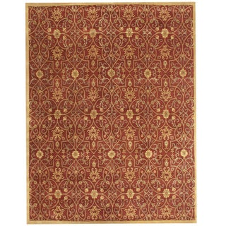 Alliyah Handmade Rust and Gold New Zealand Blend Wool Rug (8' x 10')