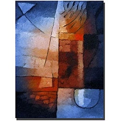 Adam Kadmos 'Abstract in Blue' Gallery-wrapped Canvas Art