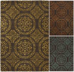 Hand-Tufted Transitional Mandara New Zealand Wool Rug (5' x 7'6)