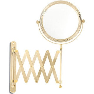 Danielle 1x-6x Gold Wall Mount Extension Mirror
