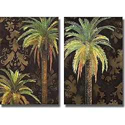 Patricia Pinto 'Palms I' and 'Palms II' Unframed 2-piece Canvas Art