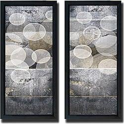Noah Li-Leger 'Tahitian Pearls I and II' Framed 2-piece Canvas Art