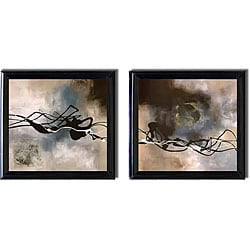 Laurie Maitland 'Watery Hollow I and II' Framed 2-piece Canvas Art