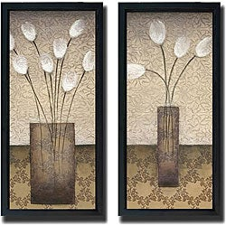 Eve 'Opal Accent I and II' Framed Canvas Art Set