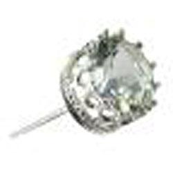 Gioelli Sterling Silver 4mm Round Green Amethyst Stud Earrings