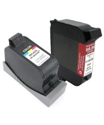 Insten Black Remanufactured Ink Cartridge Replacement for HP C6615D/ 15 - Thumbnail 2