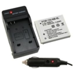 INSTEN Canon NB-6L Compact Battery Charger and Compatible Li-ion Battery Set - Thumbnail 1