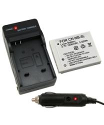 INSTEN Canon NB-6L Compact Battery Charger and Compatible Li-ion Battery Set - Thumbnail 2