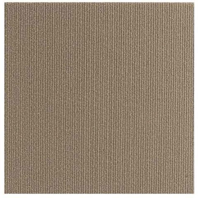 Beige 12-inch Carpet Tiles (240 Square Feet), Size 12 x 12