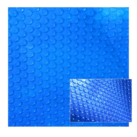 8-mil Solar Blanket for Oval 16-ft x 24-ft Above-Ground Pools - Blue - 16' by 24'