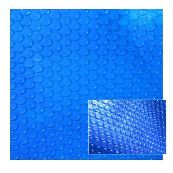 Blue Wave 12-mil Solar Blanket for Rectangular 16-ft x 24-ft In-Ground Pools – Blue