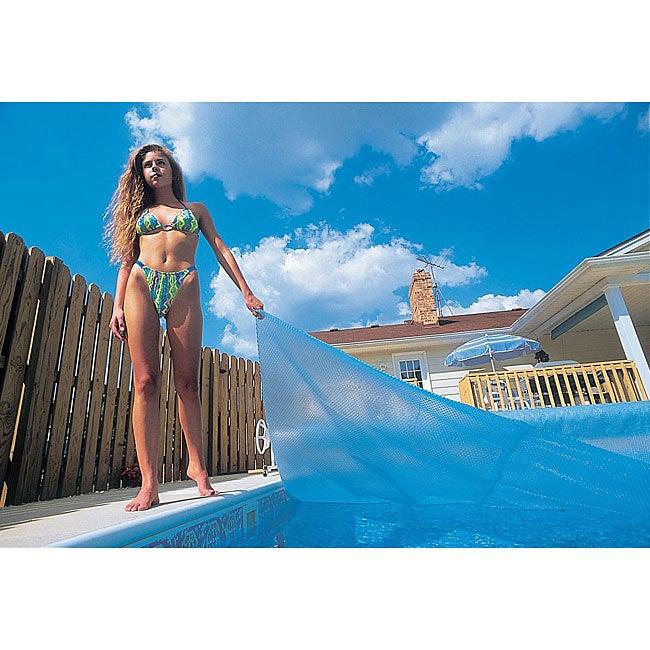 Blue Wave 12 ft. x 20 ft. Rectangular 12-mil Solar Blanket for In Ground Pools - Blue
