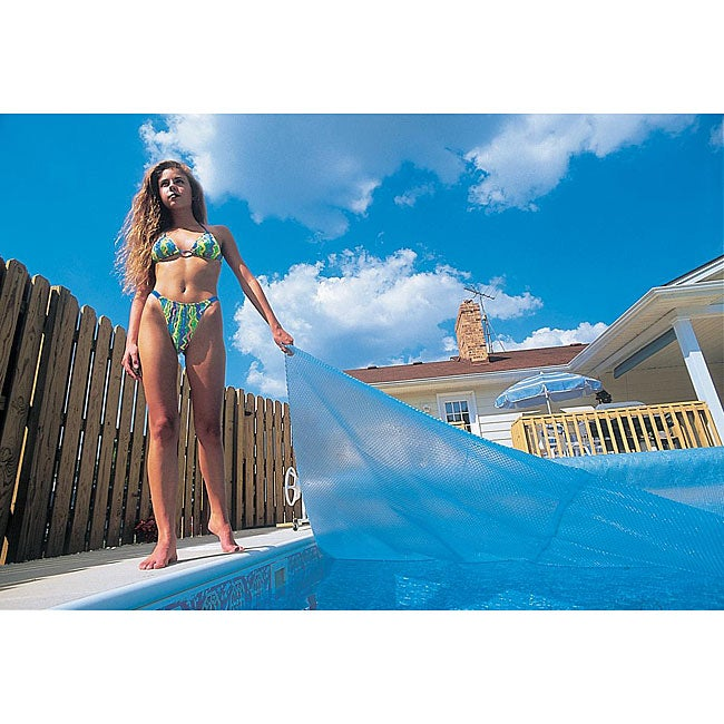 Blue Wave 20 ft. x 40 ft. Rectangular 12-mil Solar Blanket for In Ground Pools - Blue