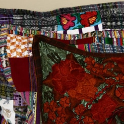 Handmade Embroidered Patchwork Pillow Cover (Guatemala) - Thumbnail 2