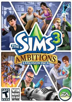 PC/Mac - Sims 3 Ambitions Expansion Pack- By Electronic Arts