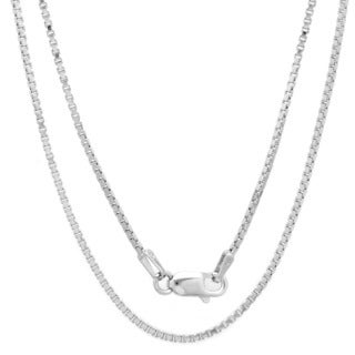 Sterling Silver 30-inch Venetian Box Chain (1.5mm)