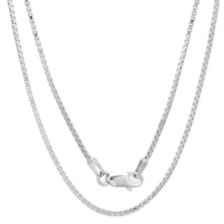 Sterling Silver Italian 1.5 mm Box Chain (16-30 Inch) (5 options available)