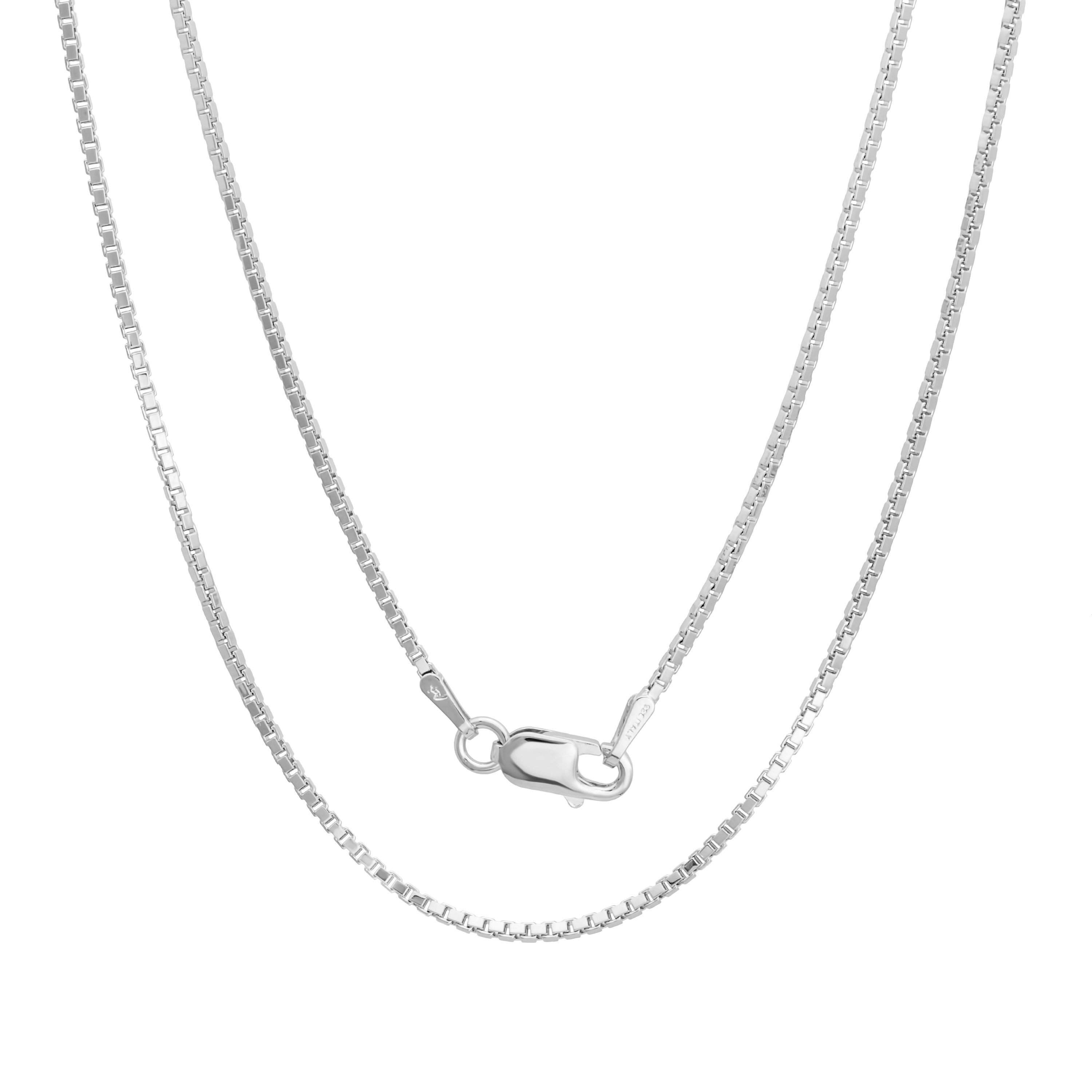 Brand New 925 Italy SOLID Sterling Silver Box Chain Necklace Different Sizes