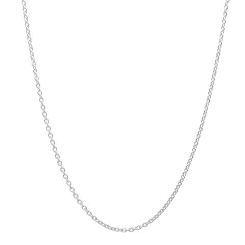 Sterling Silver 1mm Cable Chain (16-24 Inch)