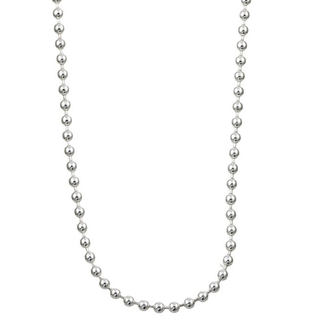 Sterling Essentials Sterling Silver 16-inch Bead Chain (1.5mm)