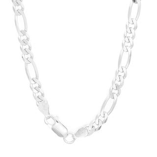 Link to Sterling Silver Italian 5 mm Diamond-cut Figaro Chain (18-30 Inch) Similar Items in Men's Watches