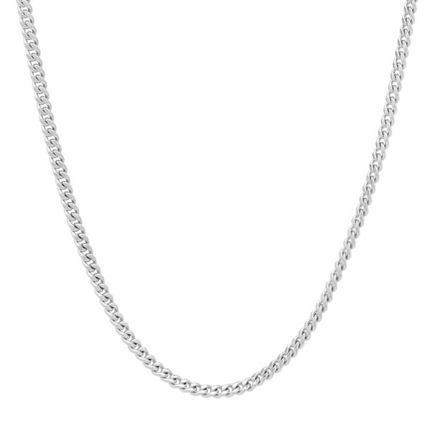 Roberto Martinez Silver 2 mm Curb Chain (16-24 Inch)