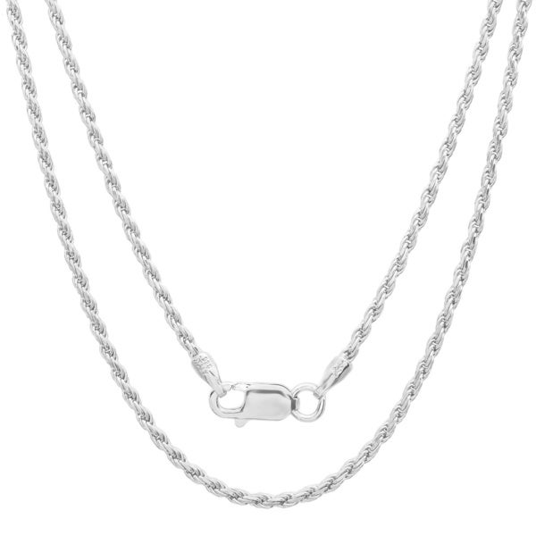Sterling Essentials Sterling Silver 20-inch Diamond-Cut Rope Chain (1.5mm)