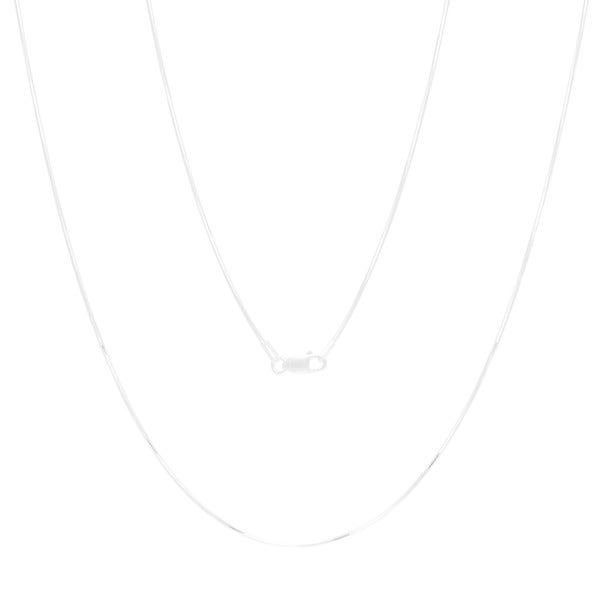 Sterling Essentials Sterling Silver 16-inch Diamond-cut Snake Chain (1mm)