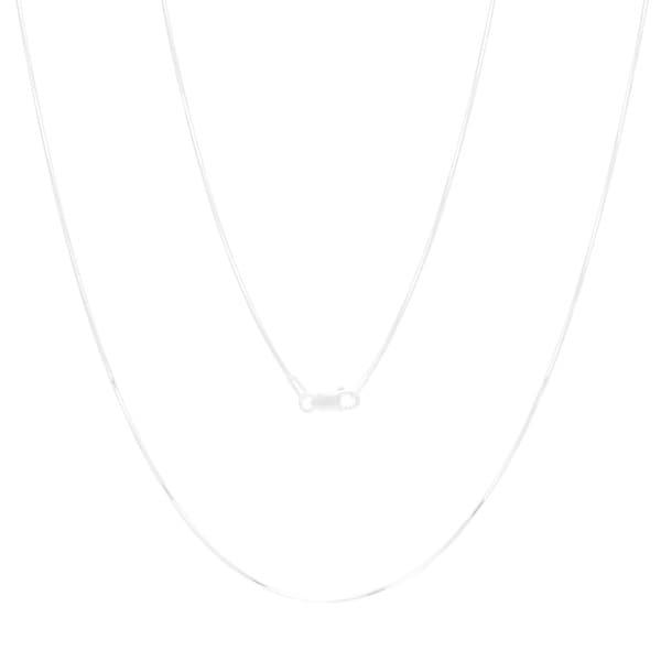Sterling Silver 16-inch Diamond-cut Snake Chain (1mm)