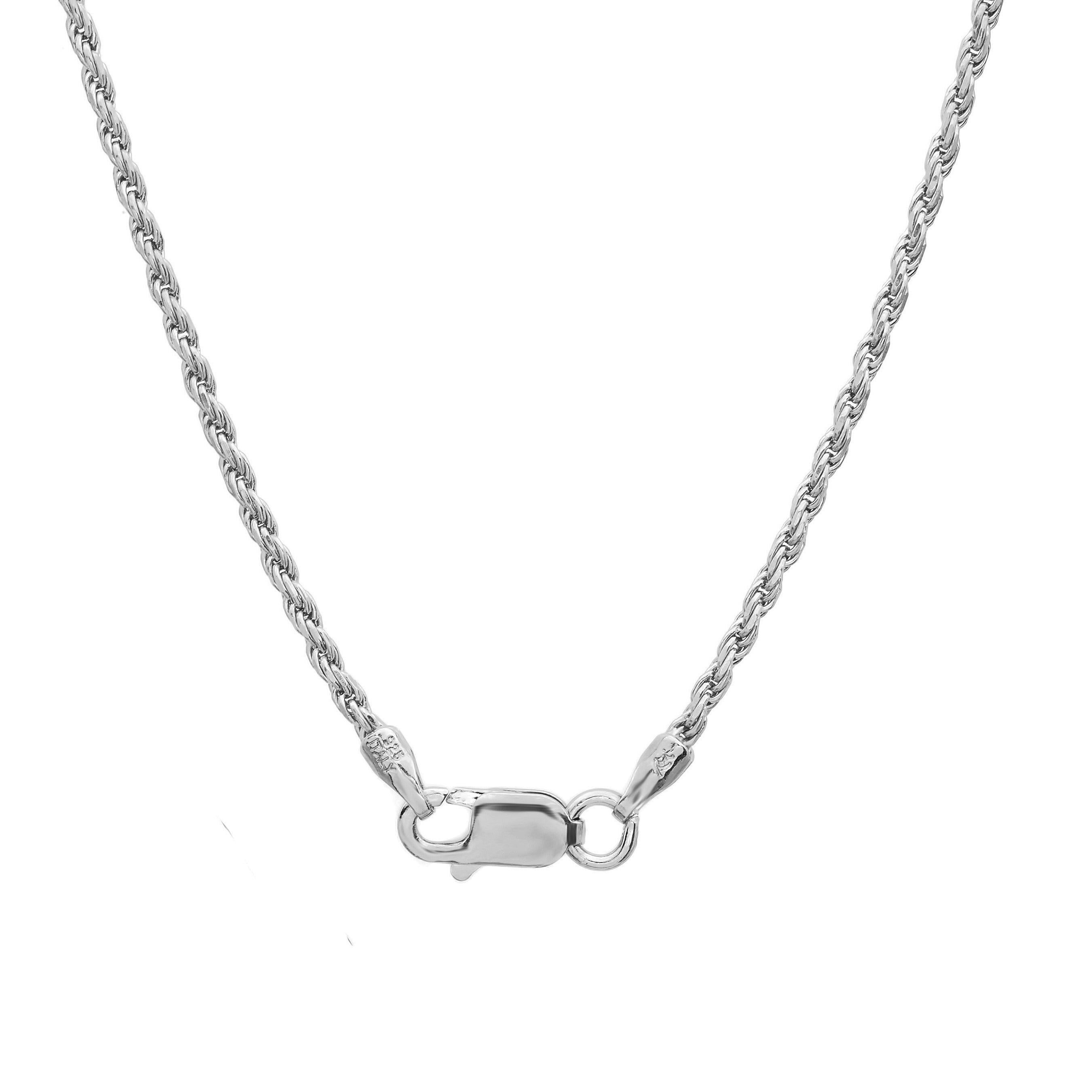 Necklace Sterling Silver Diamond Cut Wheat Chain 2mm 18 20 24 30 Inches