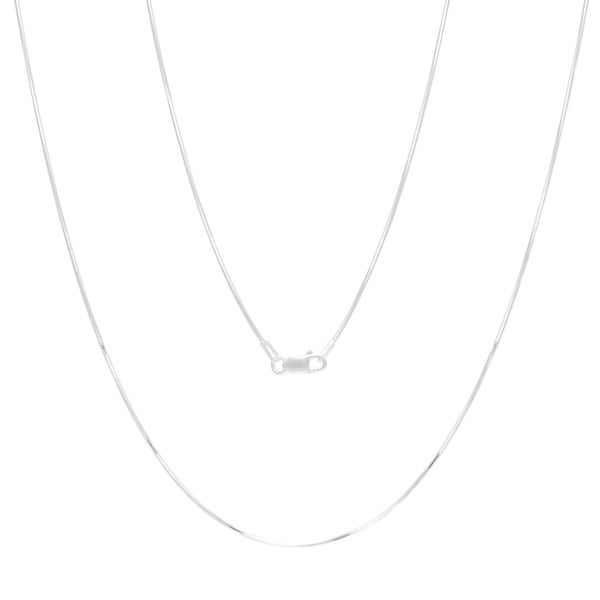 Sterling Essentials Sterling Silver 18-inch Diamond-cut Snake Chain (1mm)